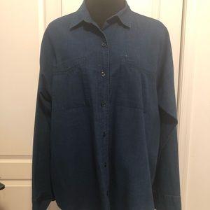 Old Navy boyfriend shirt sz L
